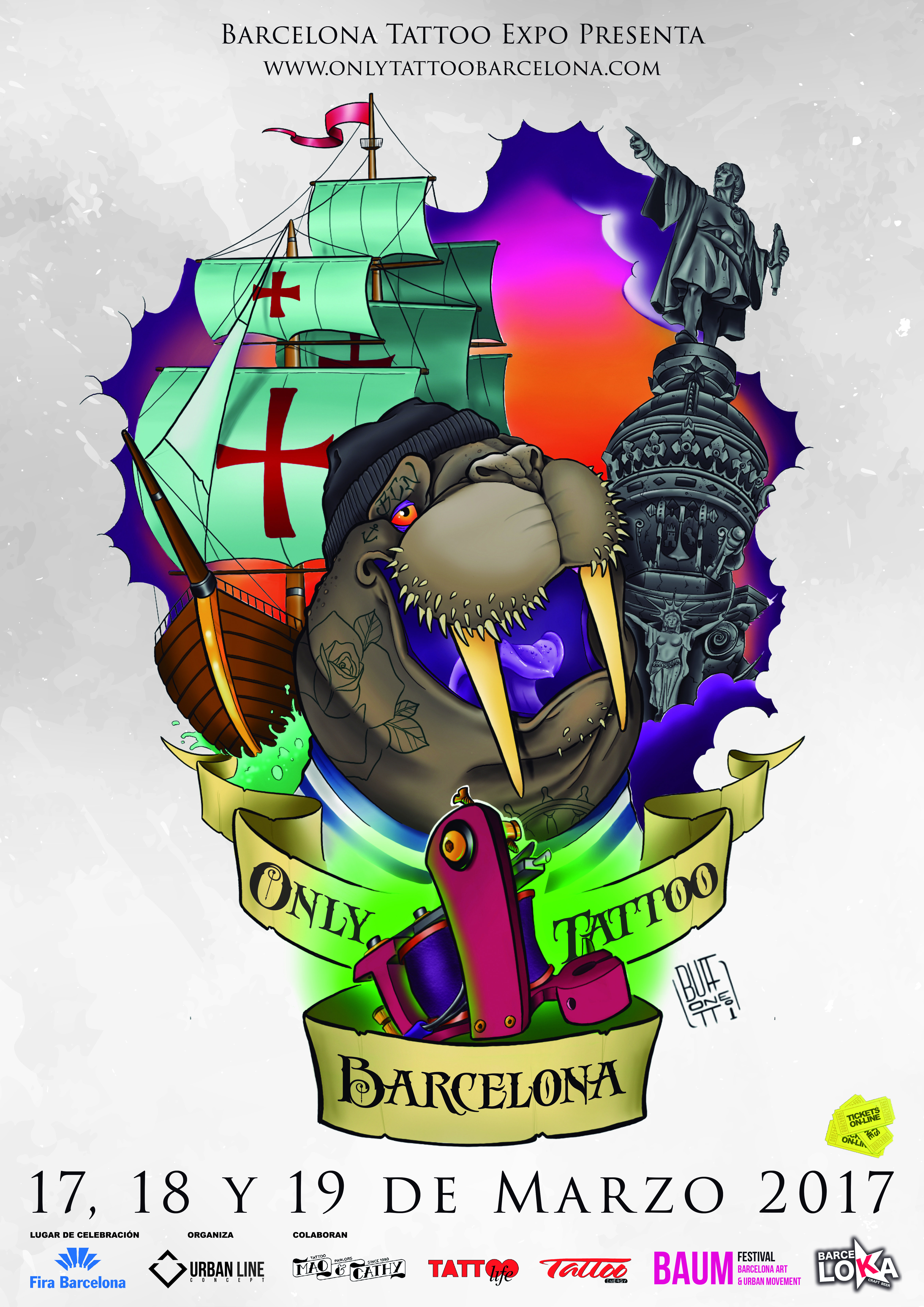 Poster Only Tattoo Barcelona